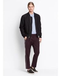 VINCE   Multicolor Wool Track Pant With Piping for Men   Lyst