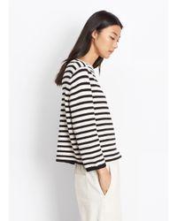 Vince Multicolor Striped Cotton Pullover