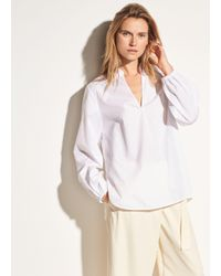 Vince White Swing Front Cotton Pullover