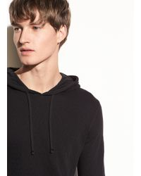 Vince Black Double Knit Hoodie for men