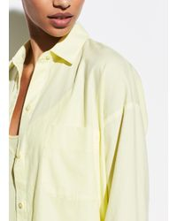 Vince Yellow Boxy Long Sleeve Shirt