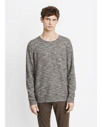 Vince Gray Melange Knit Crewneck Sweater for men