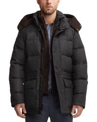 Vince Camuto - Gray Flannel Down Anorak for Men - Lyst