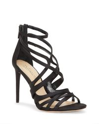 Vince Camuto - Black Imagine Ress – Strappy Sandal - Lyst