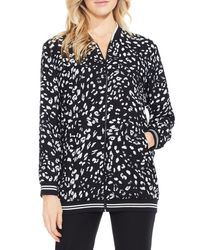 Vince Camuto | Black Animal Whispers Bomber Jacket | Lyst
