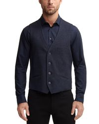 Vince Camuto - Blue Textured Vest for Men - Lyst