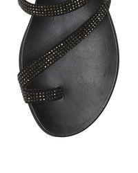 Vince Camuto Black Evina – Jeweled Toe-ring Sandal