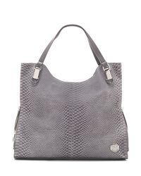 Vince Camuto - Gray Riley – Snake-embossed Tote4 - Lyst