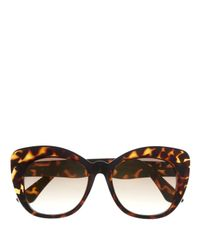 Vince Camuto | Brown Oversize Cat-eye Sunglasses | Lyst