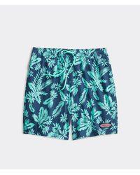 Vineyard Vines Green Printed Chappy Trunks / Swimsuit for men