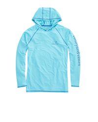 Vineyard Vines - Blue Long-sleeve Performance Raglan Hoodie T-shirt for Men - Lyst