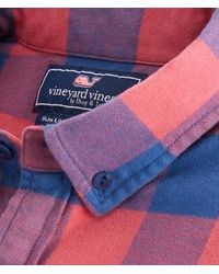 Vineyard Vines Multicolor Big & Tall Kelby Classic Fit Flannel Longshore Shirt for men