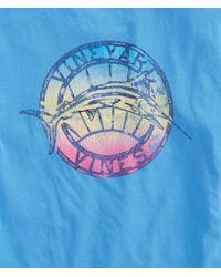 Vineyard Vines Blue Gradient Marlin Pocket T-shirt for men