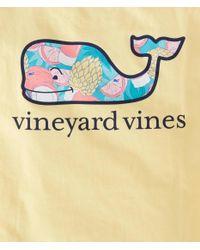 Vineyard Vines Yellow Bahama Mama Whale Fill Pocket T-shirt