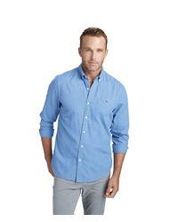 Vineyard Vines Blue Slim Tradewinds Flannel Tucker Button Down Shirt for men