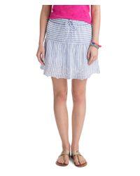Vineyard Vines Blue Eyelet Stripe Skirt