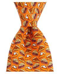 Vineyard Vines Orange Pies Printed Neck Tie for men
