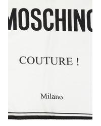 Moschino White Logo-printed Shawl