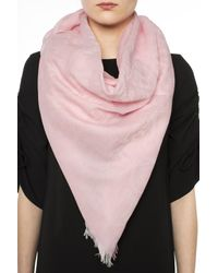 COACH - Pink Patterned Shawl - Lyst