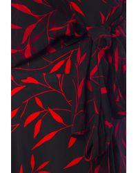 Diane von Furstenberg - Black Dress With Plant Motif - Lyst