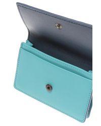Bottega Veneta Blue 'intrecciato' Wallet
