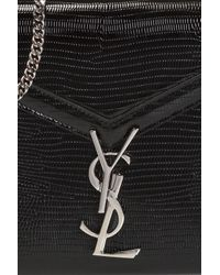 Saint Laurent Black 'cassandra Chain' Shoulder Bag