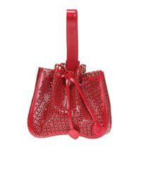 Alaïa Red 'rose-marie' Perforated Shoulder Bag