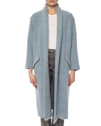 Étoile Isabel Marant Blue Coat With A Shawl Collar
