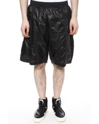 Diesel Black Gold - Black Checked Shorts for Men - Lyst
