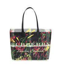 Burberry Black Reversible Shopper Bag