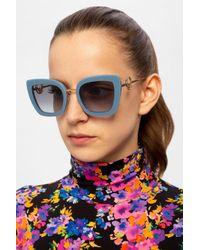 Fendi Sunglasses With Logo Blue