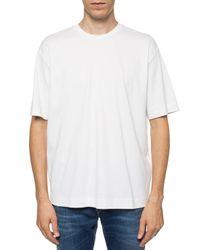 DIESEL White Round Neck T-shirt for men