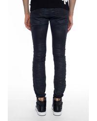 DIESEL - Black 'thavar Spc-ne' Waxed Jeans for Men - Lyst
