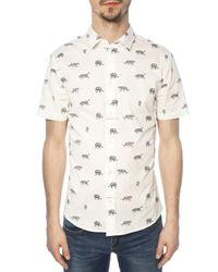 Versace Jeans White Patterned Shirt for men