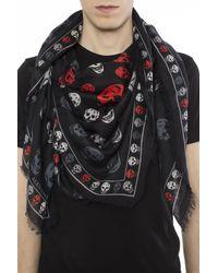 Alexander McQueen - Black Logo Shawl for Men - Lyst