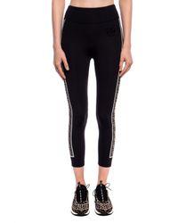 Fendi Black Striped leggings