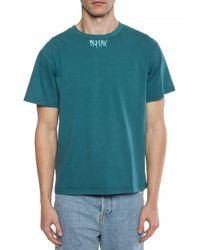 M I S B H V Blue Printed T-shirt for men