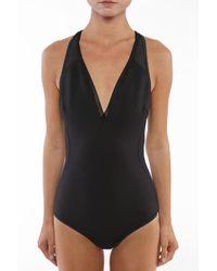 Stella McCartney Mesh-trimmed Neoprene Swimsuit Black