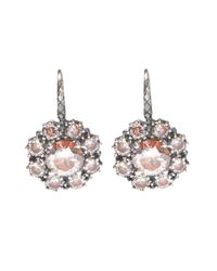 Bottega Veneta - Metallic Hanging Silver Earrings - Lyst