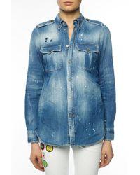 DSquared² Blue Denim Shirt