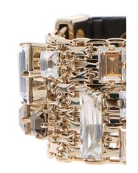 Lanvin - Metallic Encrusted Bracelet - Lyst