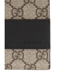 Gucci Brown 'GG Supreme' Canvas Wallet for men