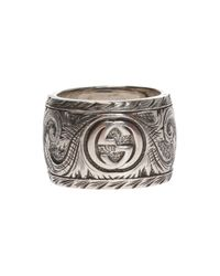 Gucci - Metallic Tiger Motif Ring - Lyst