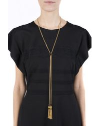 Chloé Metallic Necklace With Metal Tassels