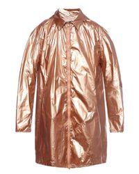Y-3 Brown Oversize Raincoat for men
