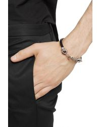 Alexander McQueen Leather Bracelet Black for men