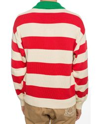 Gucci Red Striped Sweater for men