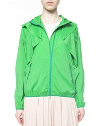RED Valentino Green Frilled Jacket