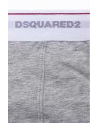 DSquared² - Gray Cotton Briefs for Men - Lyst
