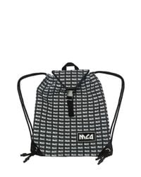 McQ Alexander McQueen Black Patterned Backpack With Logo for men